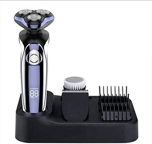 Afeitadora impermeable multifuncional 4D, afeitadora eléctrica LCD completa, afeitadora para hombre, recortadora de barba recargable, afeitadora en húmedo y seco: Amazon.es: Hogar