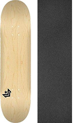 輝くじゃない促進するミニロゴ シェブロンナチュラルスケートボードデッキ 112-7.75インチ x 31.25インチ モブグリップミシン目入りグリップテープ - 2点セット