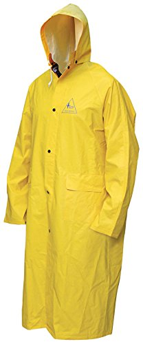 Bob Dale Gloves 951901FRCXL Rain Coat Flame Resistant PVC/Poly/Pvc 48In Long w/Hood,
