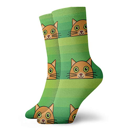 SARA NELL Novelty Funny Crazy Crew Sock Ginger Cat Printed Sport Athletic Socks 30cm Long Personalized Gift Socks Men Women Ladies Girls