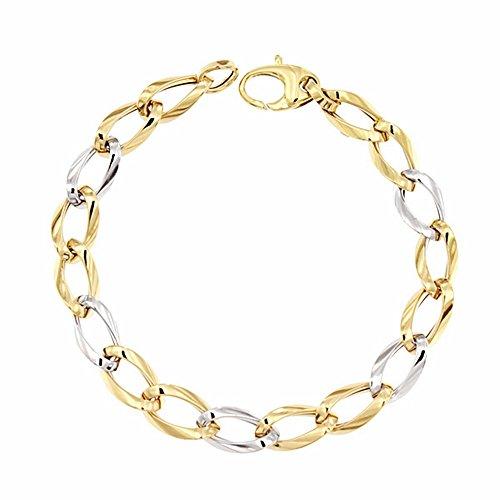 Bracelet 18k gold 19cm bicolor. [AA1680]