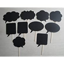 TOPIDEAL Wedding Photo Booth Props Signs Speech Bubbles on a Stick Party Shower Decor
