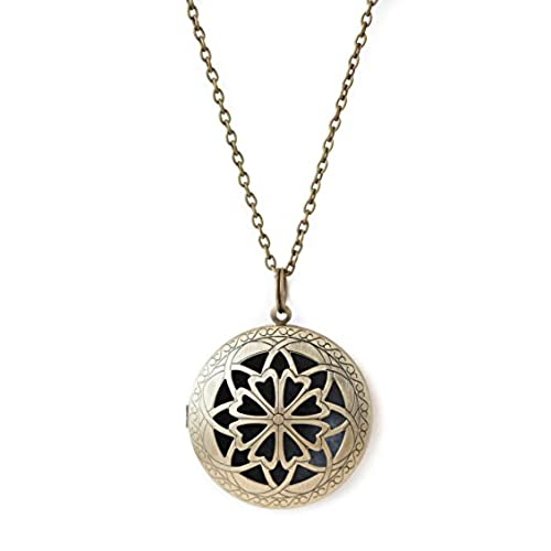 Antique pendant amazon the oil collection antique bronze large pendant diffuser necklace aromatherapy mozeypictures Gallery