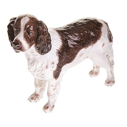 John Beswick English Springer Spaniel Figurine, Earthenware, Liver/White by John Beswick