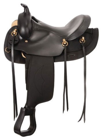 King Series Gaited RND Synthetic Saddle 15.5 Brown