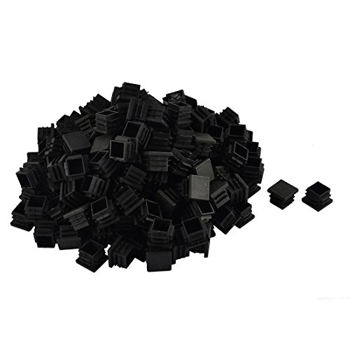 uxcell Plastic Furniture Table Chair Legs Square Tube Pipe Insert Cap Cover 19 x 19mm 200pcs Black 0.75' Plastic Cap