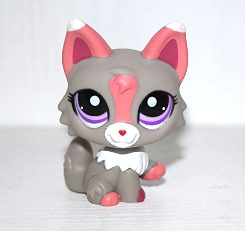 DEEJOE Pet Shop Animal Purple Eyes Pink Grey Fox LPS Action Figure Doll Child Toy 2
