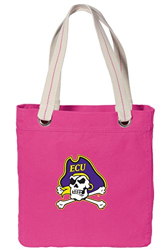 Broad Bay ECU Tote Bag Rich Dye Washed Pink Cotton Canvas