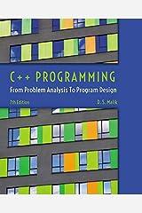 C++ Programming: From Problem Analysis to Program Design Paperback