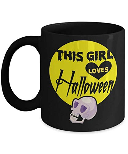 This Girl Loves Halloween Mug, This Girl Loves Zombies Halloween Costume Mug, As a lover of Halloween, you know that this will be the perfect gift ide