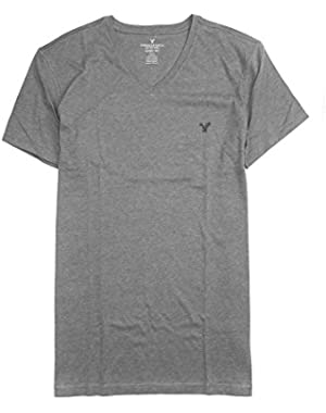 Men's Soft Crew V-Neck Plain Basic T-Shirt 031