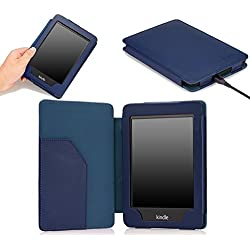 MoKo Case for Kindle Paperwhite, Premium Cover with Auto Wake / Sleep for Amazon All-New Kindle Paperwhite (Fits All 2012, 2013, 2015 and 2016 Versions), INDIGO