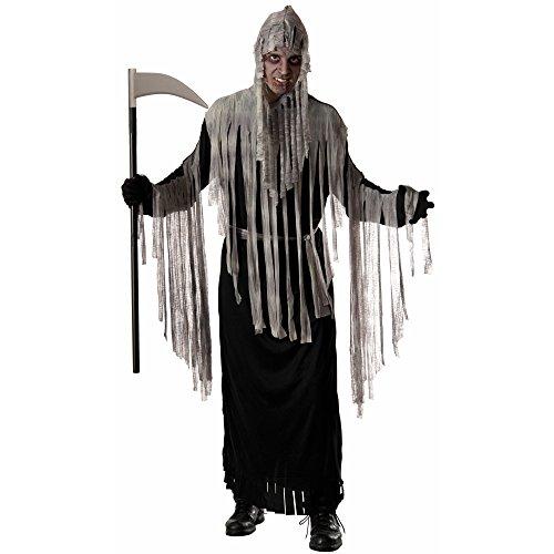Forum Novelties Men's Haunted Reaper Hooded Robe Costume, Multi, One Size