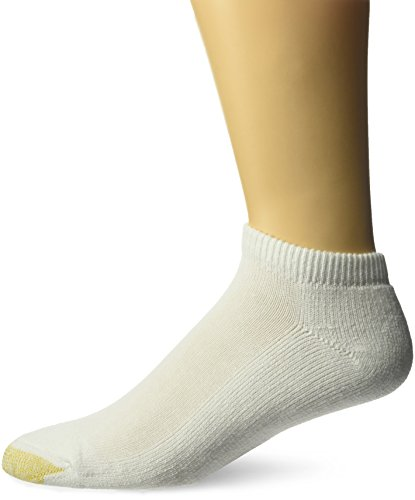 Gold Toe Men's Ultra Tec Performance No Show Athletic Socks, 3-pack, white, Shoe Size: 6-12.5