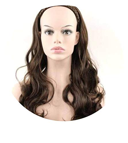 hair 3/4 Hair hoop Double braid wig Synthetic Long Wave wig 7color available long 60cm,T1B/30,24inches