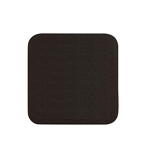 Thirsty Rhino Jeli, Soft Rubber & Jersey Neoprene Coaster, Black, Set of 12 (Square) (Non Skid Rubber Coaster)
