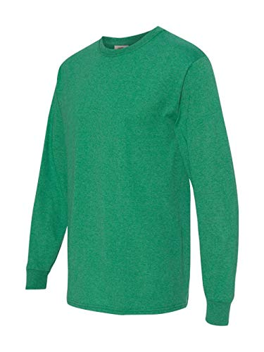 - Fruit of the Loom mens 5 oz. HD Long-Sleeve T-Shirt, Retro Hthr Green, X-Large