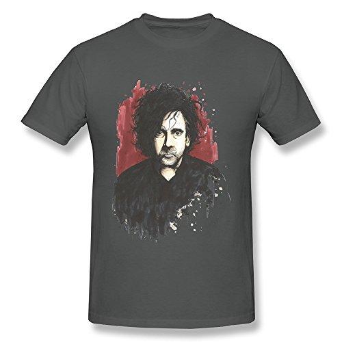 NUBIA Gothic Tim Director Burton Vintage Tshirt For Mens DeepHeather Size XXL ()