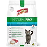 Ração Baw Waw Natural Pro para gatos castrados sabor Carne e Arroz -1kg