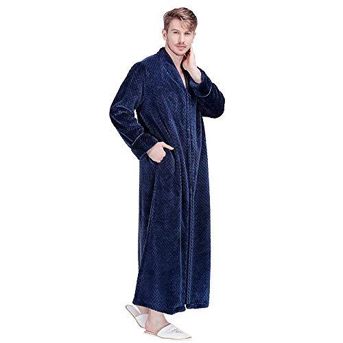 Abbigliamento Uomo Pile Blue Zip Casalingo In Leggero Bianco Accappatoio Lungo Da Bcl Pigiama Con Velluto A pajamas Large Cotone tTxvwW4xqA