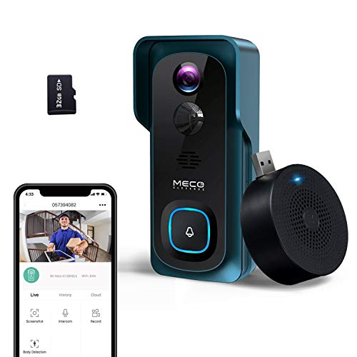 🥇 【2020 New】 WiFi Video Doorbell Camera