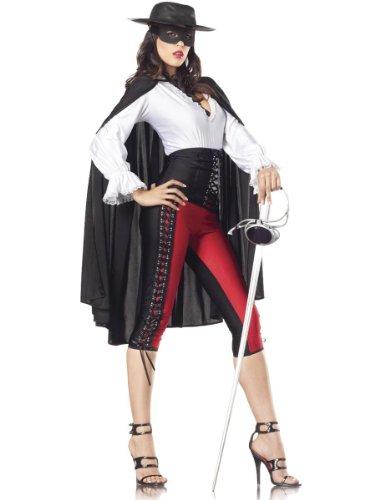 Costume Adventure Women's Deluxe Sexy Zorro Costume -M/L (Mask Of Zorro Sword)
