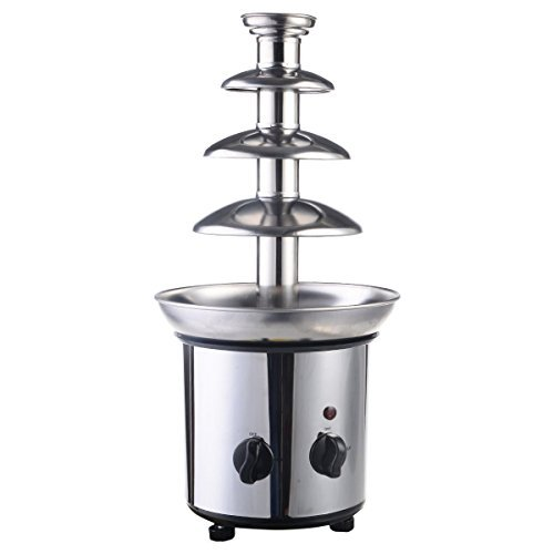 - Sportstorm 4 Tiers Commercial Stainless Steel Hot Chocolate Fondue Fountain