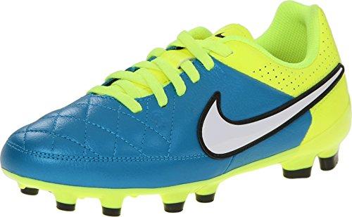 Nike Jr. Tiempo Genio Leather FG Soccer Cleat (Blue Lagoon) Sz. (Nike Jr Tiempo Genio Leather)