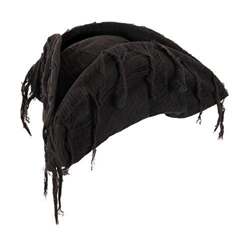 elope Ghost Pirate Costume Hat, Black