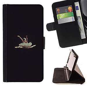 - ballerina dancer vignette beautiful - - Prima caja de la PU billetera de cuero con ranuras para tarjetas, efectivo desmontable correa para l Funny HouseFOR Sony Xperia Z1 L39