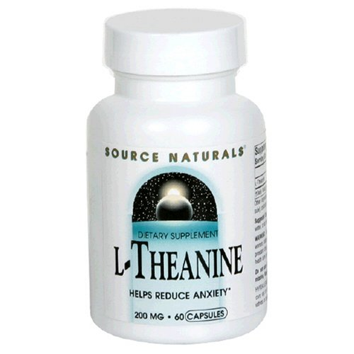 Source Naturals L-Théanine 200mg, 60 capsules (Pack de 2)