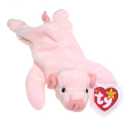 TY Beanie Baby - SQUEALER the - Stuffed Pig Beanie Baby