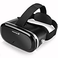 3D Virtual Reality Glasses, Fosmon 360 Degree VR Goggles Box for 3D Video Games Pictures Headmount Display, Haptic Virtual Reality Headset for iPhone, Samsung, LG, HTC, Motorola, Blu, Alcatel & More