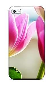 linJUN FENGDefender Case For iphone 4/4s, Tulips Spring Pattern