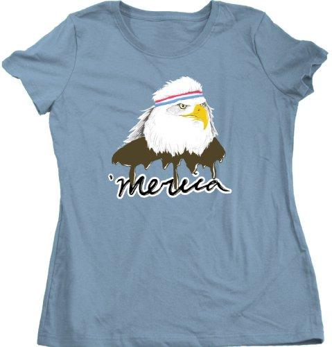 Merica Mullet Eagle Ladies Cut T-shirt/American Patriot USA Pride Tee