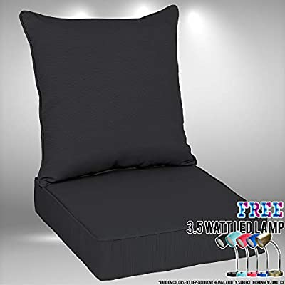 Amazon Com Outdoor Deep Seat Cushion Set 48 X 24 In With