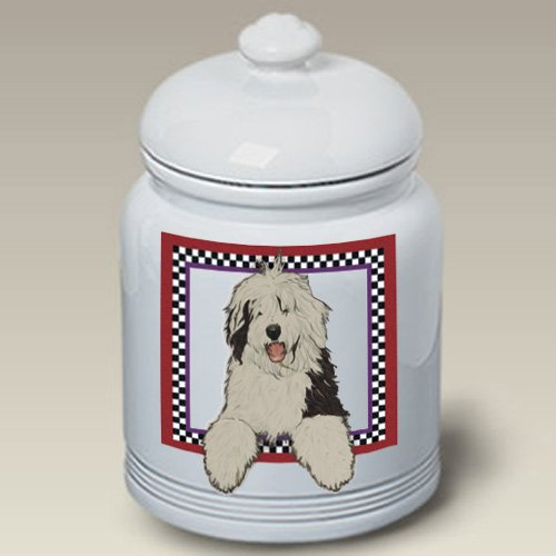 Old English Sheepdog - Best of Breed Treat Jars