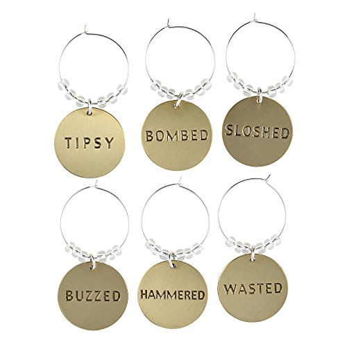 SB Design Studio YD140 Vino 1955 Wine Glass Charms Drunk
