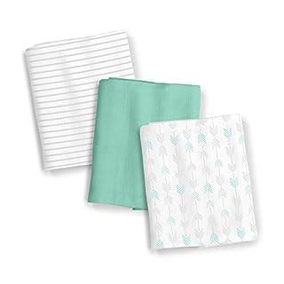 SwaddleMe 3 Piece Muslin Blankets, Aztec Stripe, One Size
