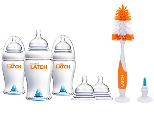Munchkin Latch Anti-Colic 8 Ounce Baby Bottles with Replacem