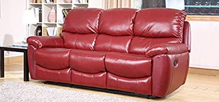 Daytona 3 + 2 Seater Recliner Red Wine Leather Sofa Set