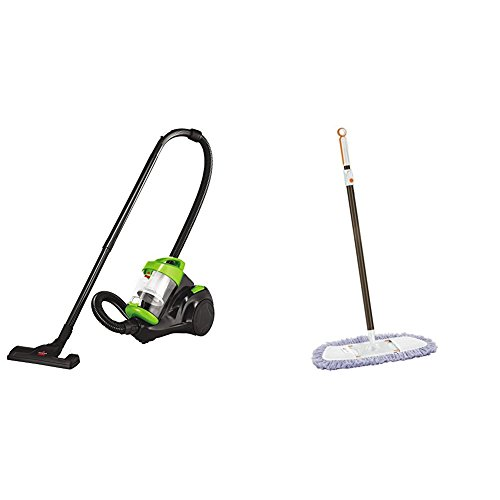 Bissell Zing Canister Bagless Vacuum, 2156A, Green with Lightweight Tile, Wood Floor and Hard Surface Dust Mop, 1763 by Bissell (Image #2)
