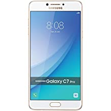 "Samsung Galaxy C7 Pro C7010 64GB Gold, 5.7"", Dual Sim, GSM Unlocked International Model, No Warranty"