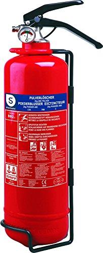 Smartwares Feuerlöscher 2 Kg, Pulverlöscher mit Halterung und Manometer, SW BB2