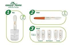 Easy@Home Pregnancy Test Sticks - hCG Midstream - 5 Pack