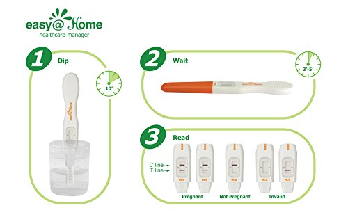 Easy@Home 8 Ovulation Test and 2 Pregnancy Test Sticks - Midstream Tests - Reliable Ovulation Predictor Kit And Fertility Test, Powered by Premom Ovulation Predictor App, Free iOS and Android App by Easy@Home (Image #5)