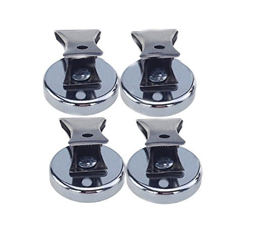 NSpole Heavy Duty Neodymium Magnetic Clip Clamp Refrigerator Magnet (15lb(4 pack))