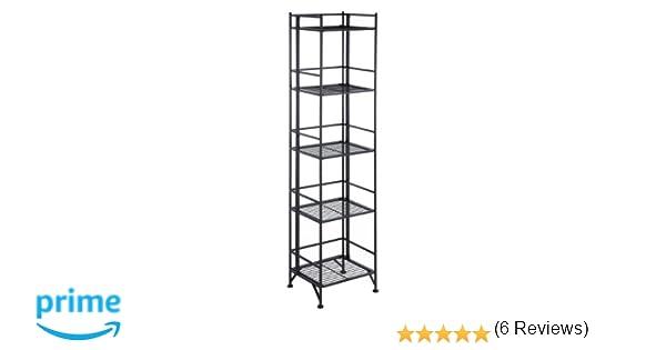 Convenience Concepts Designs2Go X Tra Storage 5 Tier Folding Metal Shelf Black Amazonca Home Kitchen