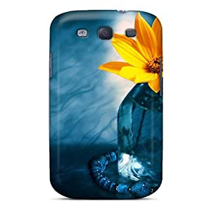 High-quality Durability Case For Galaxy S3(yellow Flower Mt)