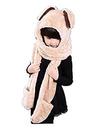 Kids Winter Scarf Hat Gloves For Girls Boys Scarves Sets 3 In1